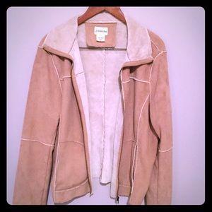 Faux sheepskin women's jacket